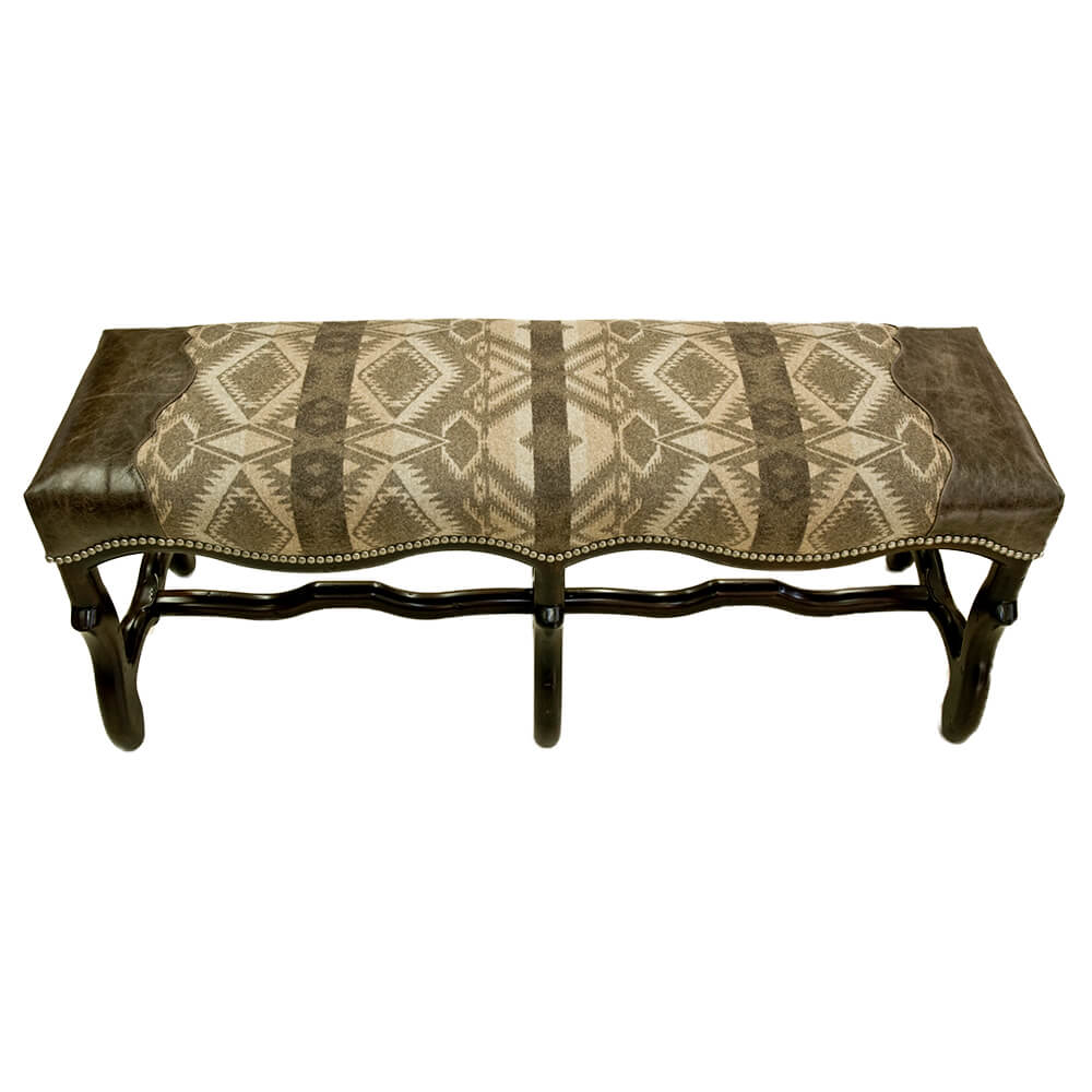 Sante Fe Dining Bench Steel Strike